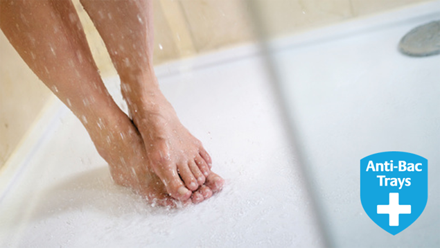 shower trays with antibacterial agent included