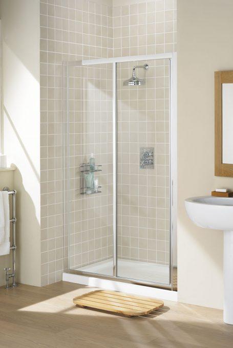framed slider door shower enclosure