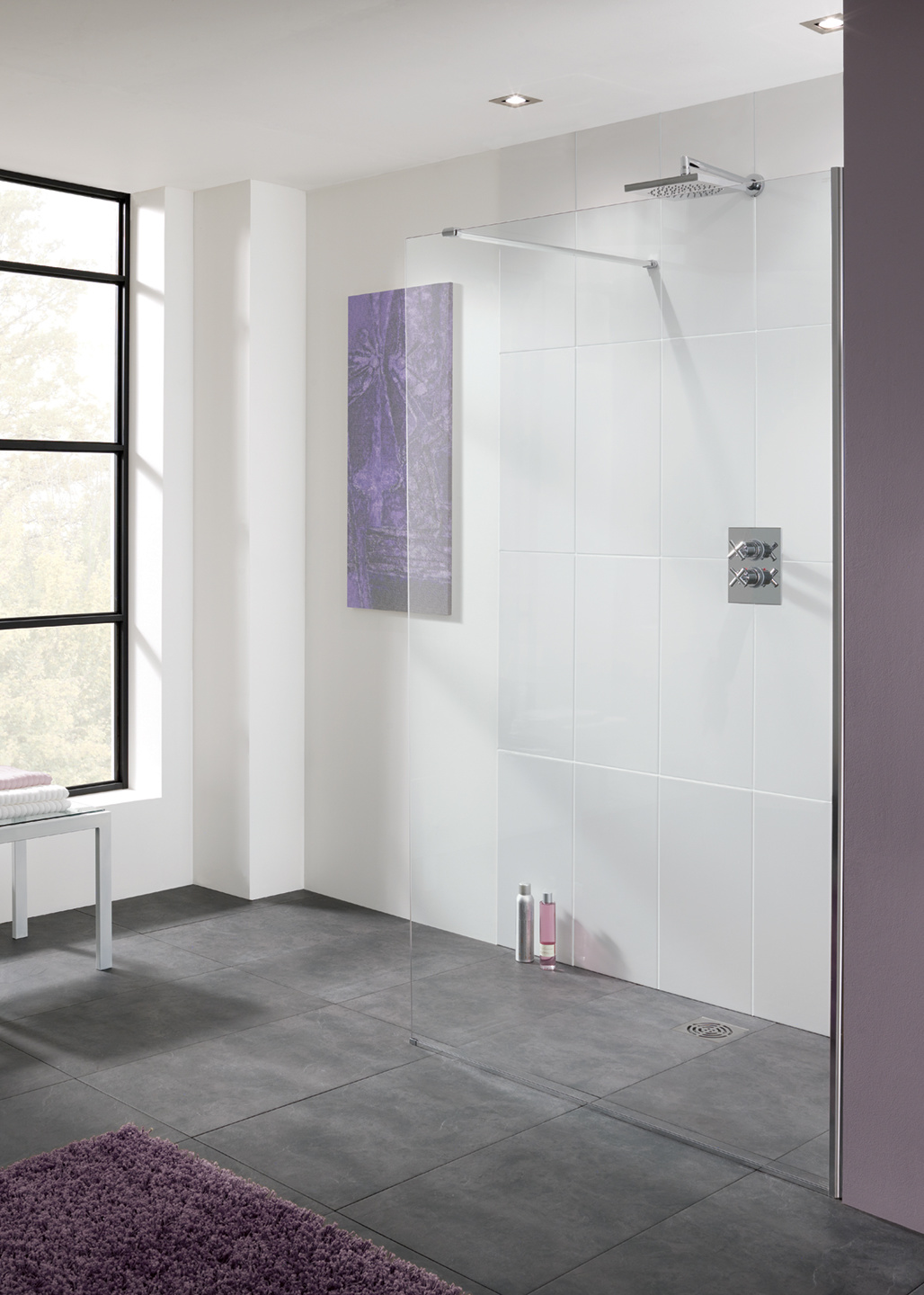 Cannes 10mm walk-in shower enclosure