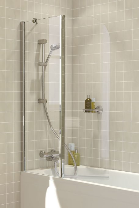 Lakes Bathrooms Classic Curved Hinged Bath Screen