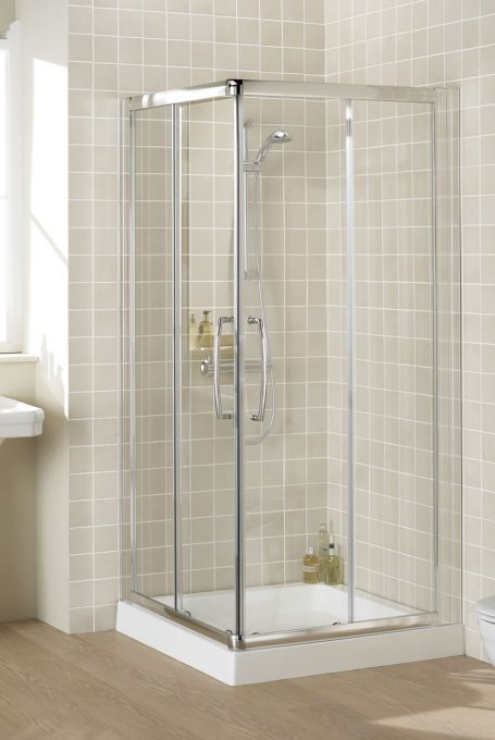 Lakes Bathrooms Classic Semi Frameless Corner Entry