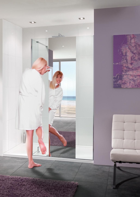 Mirror: Nice Frameless Walk-In Shower Enclosures