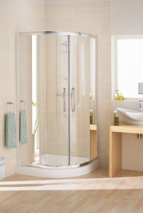 Mirror: Single Rail Offset Quadrant shower enclosure