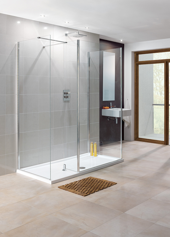 Rhodes - Frameless Walk-In Shower Enclosures   Lakes Bathrooms