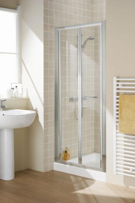 Semi-Frameless Bi-Fold Door shower enclosure