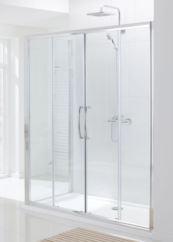 Semi Frameless Double Slider Door Shower Enclosures