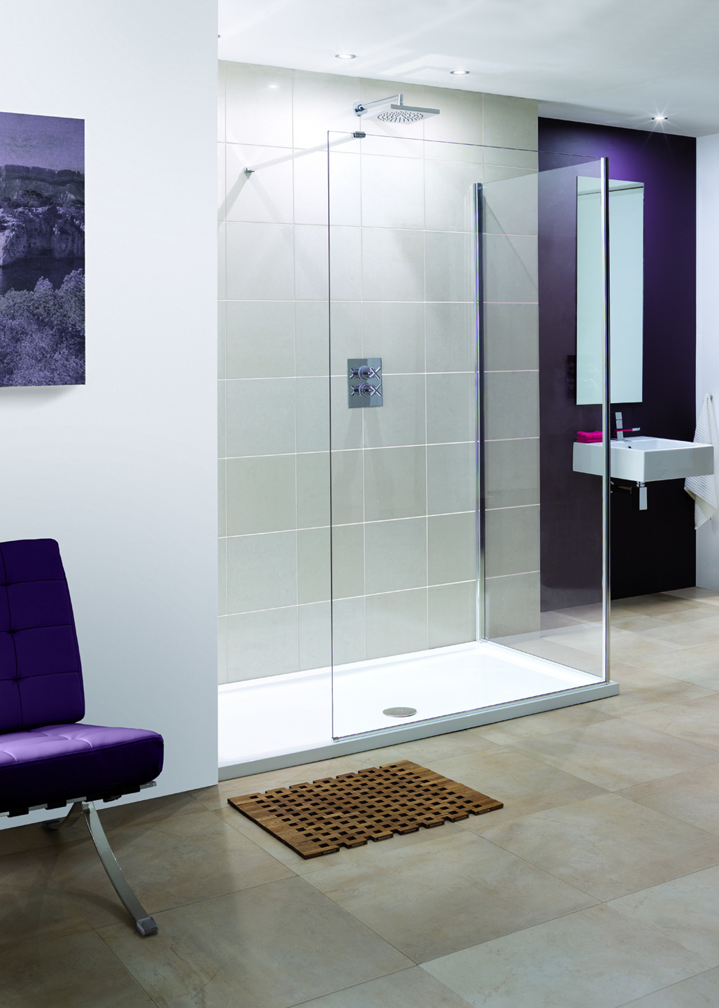Frameless Marseilles Walk-In shower enclosure