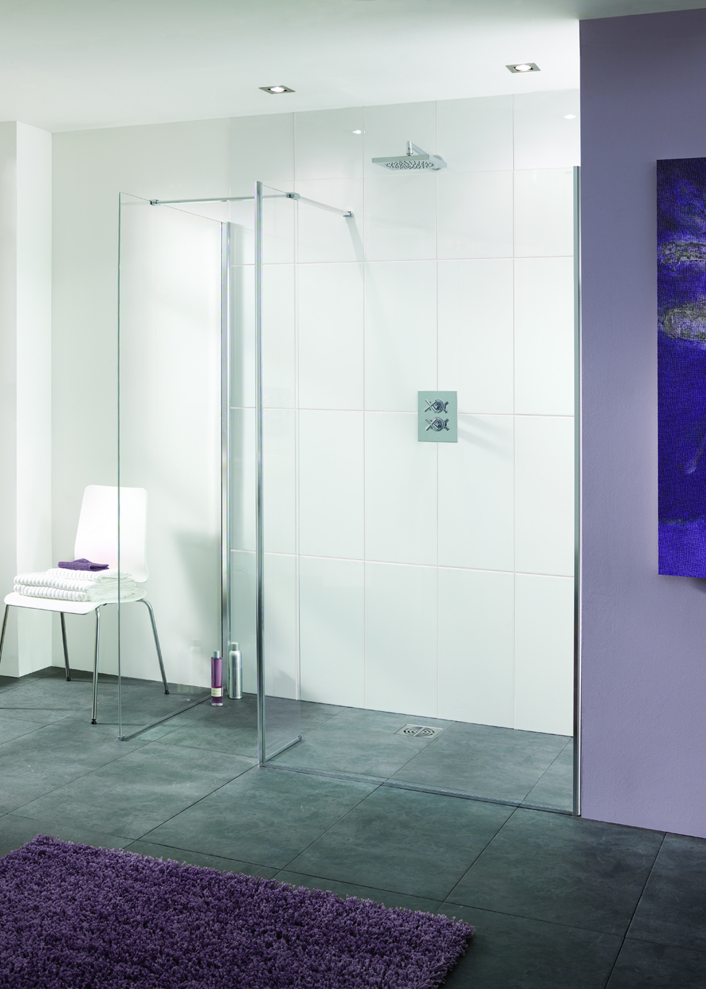 Palma Frameless Walk-In Shower Enclosure