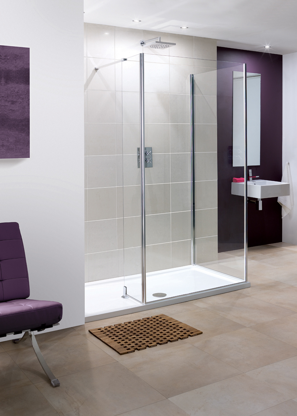 Andora Frameless Walk In Shower Enclosures