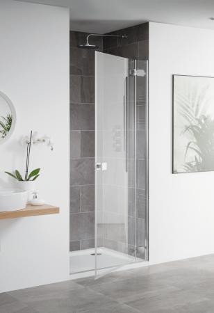 Barbados frameless hinged shower door