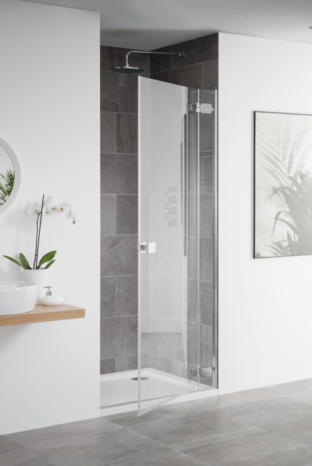 Barbados frameless hinged shower door