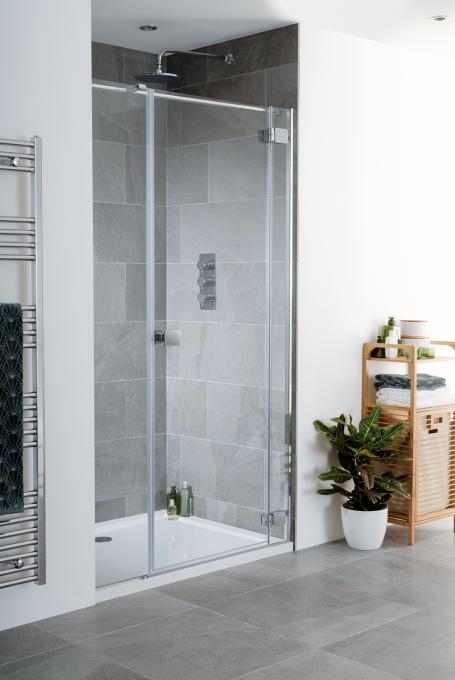 Cayman Frameless Hinged Shower Door image