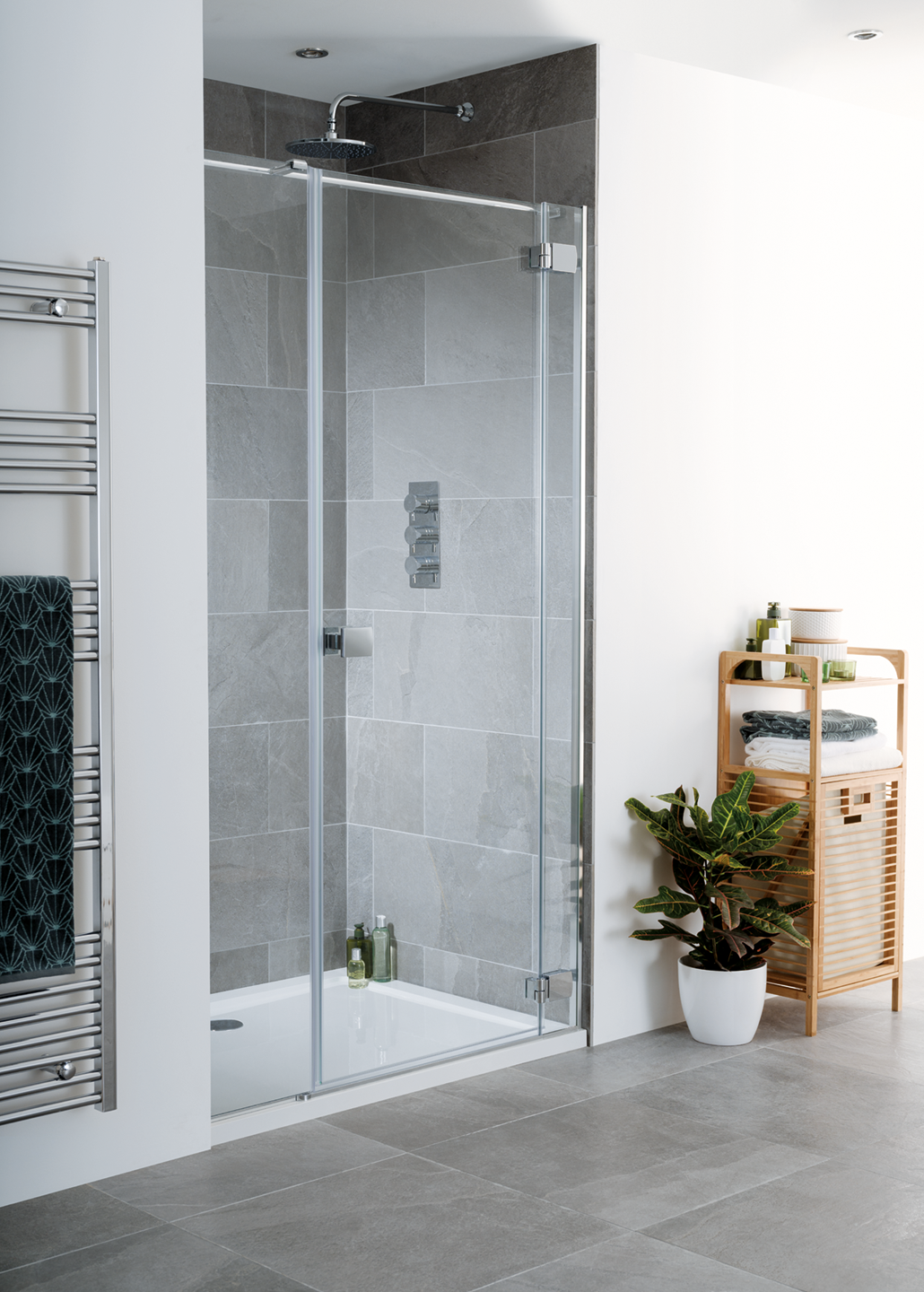 Cayman Frameless Hinged Shower Door image