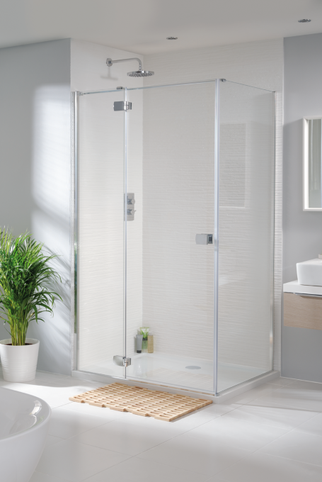 Tobago frameless hinged shower enclosure image