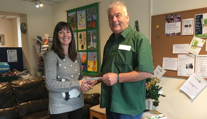 Lakes Bathrooms donates £2500 to Tewkesbury Foodbank
