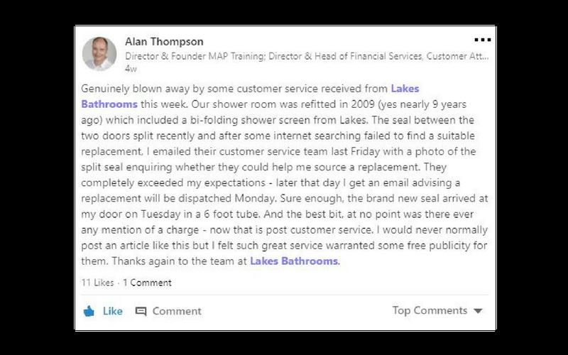 Lakes Bathrooms Customer Service Reviews 4