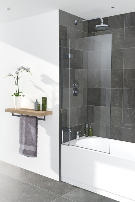 Frameless bath screen