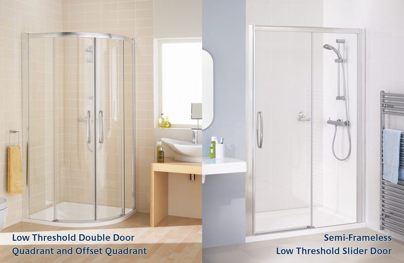 Low-threshold-shower-enclosures