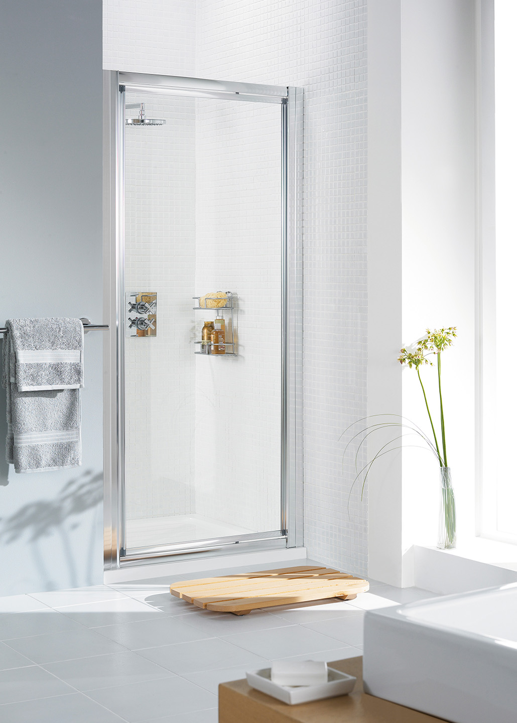 Framed Pivot Door Fully Framed Alcove Shower Door