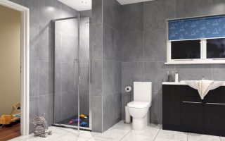 Lakes' new Carradale Hinged Door showering space