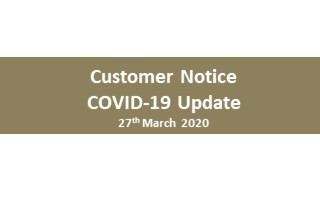 Customer Notice for COVID19
